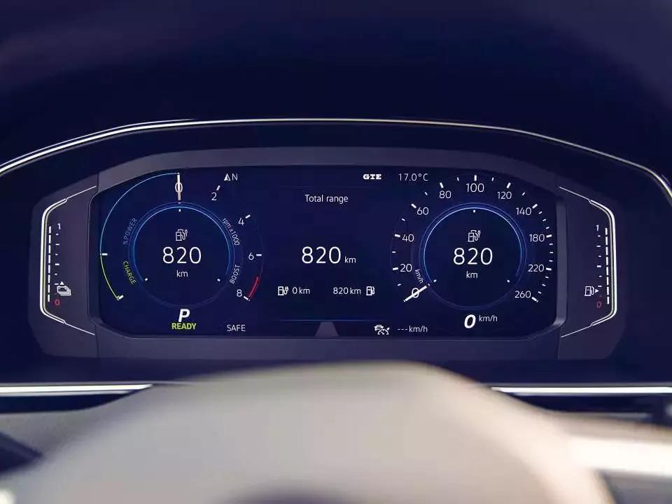 Tableau de bord du nouveau Passat GTE Volkswagen Hybride